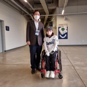 제41회 장애인의 날 기념 NC다이노스 홈경기 시구 행사